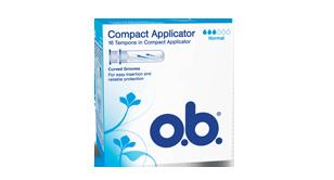 o.b.® Compact Applicator Normal fra o.b.® tampons Denmark