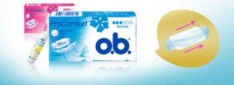 o.b.® ProComfort Applicator Normal og Super fra o.b.® tampons Denmark