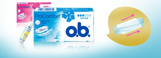 o.b.® ProComfort Applicator Normal og Super fra o.b.® tampons Denmark