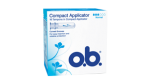 o.b.® Compact Applicator Normal fra o.b.® tampons Denmark